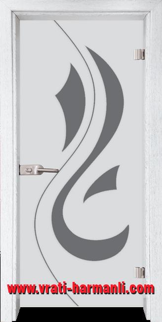 Стъклена интериорна врата модел Sand G 14-10 с каса Бреза