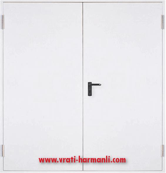 Метална пожароустойчива врата, REI 60 – двукрила