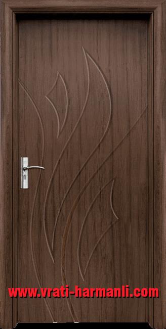 Интериорна HDF врата, модел 033-P Орех
