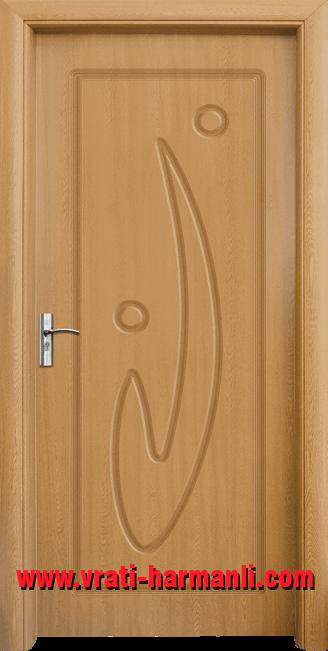 Интериорна HDF врата, модел 070-P Светъл дъб