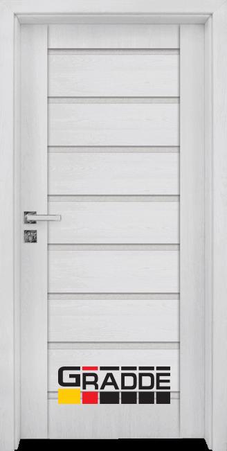 Интериорна HDF врата, модел Gradde Axel Glas, Сибирска Лиственица