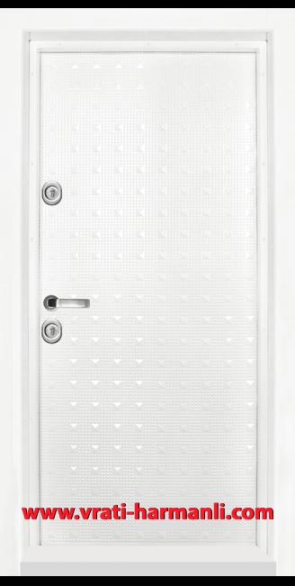Блиндирана входна врата, модел Т 777, цвят Бял гланц