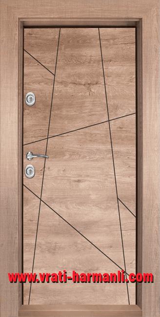 Блиндирана врата с ламинат Т-1003 врати Харманли